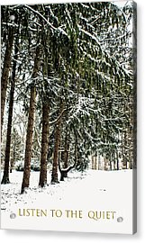 Acrylic Print featuring the photograph Listen To The Quiet by Sandy Moulder