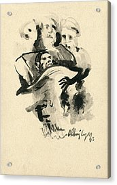 Lit De Mort Acrylic Print by Taylan Apukovska