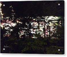 Acrylic Print featuring the photograph Lit Like Stained Glass by Felipe Adan Lerma