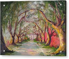 Litchfield Carriage House Acrylic Print by Cecelia Campbell