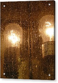 Lite Rain Acrylic Print by Florene Welebny