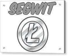 Litecoin Segwit Acrylic Print by Britten Adams