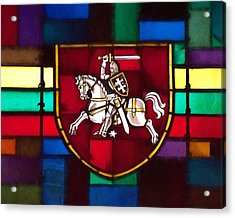 Lithuania Coat Of Arms Acrylic Print