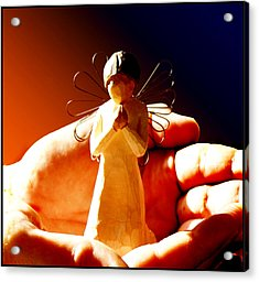 Little Angel Acrylic Print by Holly Kempe