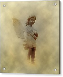 Little Angel In The Clouds Acrylic Print by Bill Cannon