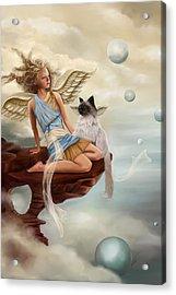 Little Angel Acrylic Print by Maggie Terlecki