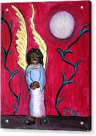 Little Angel Acrylic Print by Pilar  Martinez-Byrne