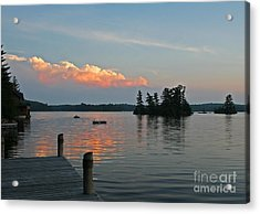 Little Bald Lake Acrylic Print by Barbara McMahon