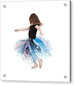 Little Ballerina Acrylic Print by Cindy Singleton