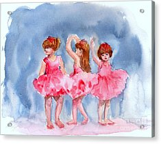 Little Ballerinas Acrylic Print