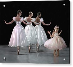 Little Ballerina's Dream Acrylic Print