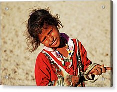 Little Bedouin Girl Acrylic Print by Chaza Abou El Khair