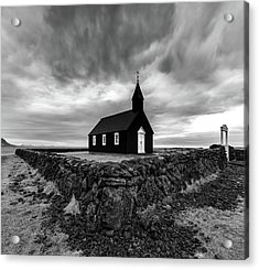 Little Black Church 2 Acrylic Print