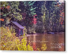 Little Boat House By The Lake Acrylic Print