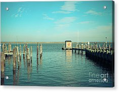Little Boat House On The River Acrylic Print by Colleen Kammerer