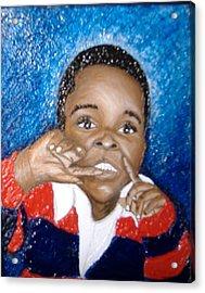 Little Boy Blue  Acrylic Print by Keenya  Woods
