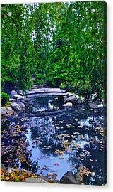 Little Bridge - Japanese Garden Acrylic Print by Bill Cannon