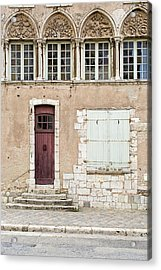 Acrylic Print featuring the photograph Little Brown Door by Melanie Alexandra Price