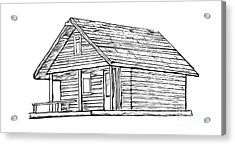 Little Cabin In The Woods Acrylic Print