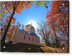 Little Cataloochee Church Acrylic Print by Alan Lenk