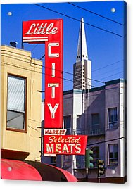 Little City Market North Beach San Francisco Acrylic Print