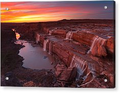 Little Colorado Sunset Acrylic Print by Darren White