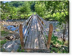 Acrylic Print featuring the photograph Little Country Bridge by Tim Stanley