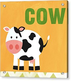 Little Cow Acrylic Print by Linda Woods