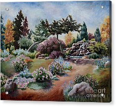 Acrylic Print featuring the painting Little Eden by Brenda Thour