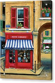 Little French Book Store Acrylic Print by Marilyn Dunlap