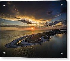 Little Gasparilla Island Point Sunset Acrylic Print by Nick  Shirghio
