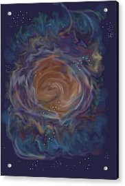 Little Ghost Nebula Acrylic Print by Anne Norskog