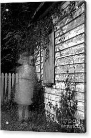 Little Girl Ghost Acrylic Print by Melissa Wyatt