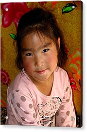Little Girl Of The Gobi Acrylic Print
