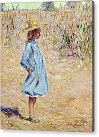 Little Girl With Blue Dress Acrylic Print