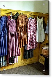 Little Girl's Gathered Dresses Acrylic Print by Susan Savad