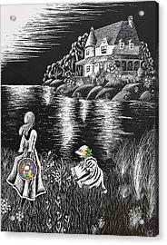 Little Girls Acrylic Print by Svetlana Sewell