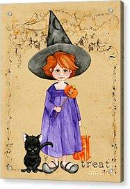 Little Halloween Witch Acrylic Print