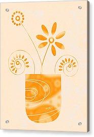 Little Herb Garden Acrylic Print by Frank Tschakert