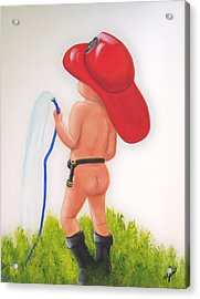 Little Hero Acrylic Print