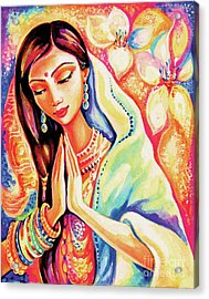 Acrylic Print featuring the painting Little Himalayan Pray by Eva Campbell