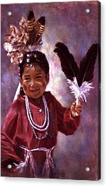 Little Hopi Dancer Acrylic Print