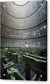 Acrylic Print featuring the photograph Little House Inside Industrial Cooling Tower by Dirk Ercken