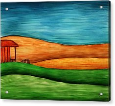 Little House On Hill Acrylic Print