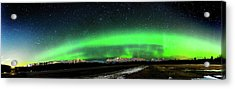 Little House Under The Aurora Acrylic Print