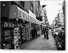 little italy gift shop store New York City USA Acrylic Print