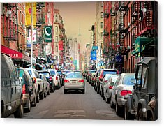 Little Italy Manhattan Acrylic Print by Diana Angstadt