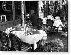 Little Italy Table Setting Mono Acrylic Print