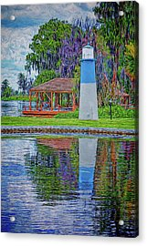 Acrylic Print featuring the photograph Little Lake Lightouse by Lewis Mann