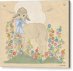 Little Lamb Lightened Acrylic Print